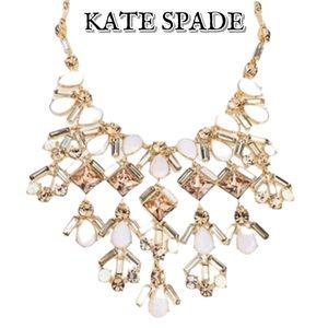 Kate Spade Bling Baguette Intricate Bib Necklace